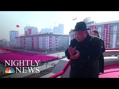 North Korea Holds Military Parade Ahead Of Olympics Opening Ceremony | NBC Nightly News