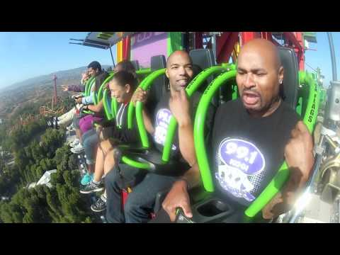 99.1 KGGI 5-Cent & KC  Ride Six Flags Lex Luthor Drop of Doom