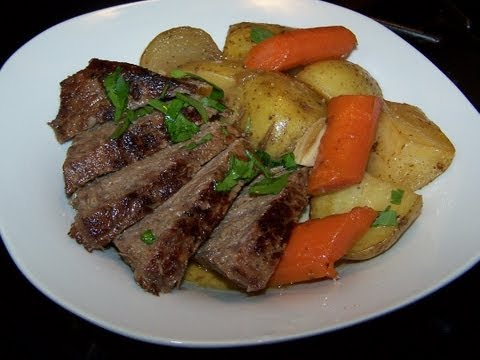 London Broil Cowboy Beef Skillet - Cast Iron Cooking