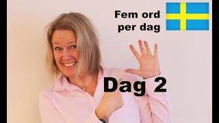 Dag 2 - Fem ord per dag - Hälsningsfraser - Lär dig Svenska A1 CEFR  - Learn Swedish