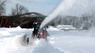 Kubota Grand L 6060 with Front Snow Blower