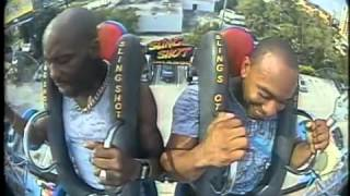 Dmx Tripping On roller coaster sling shot ! 2014