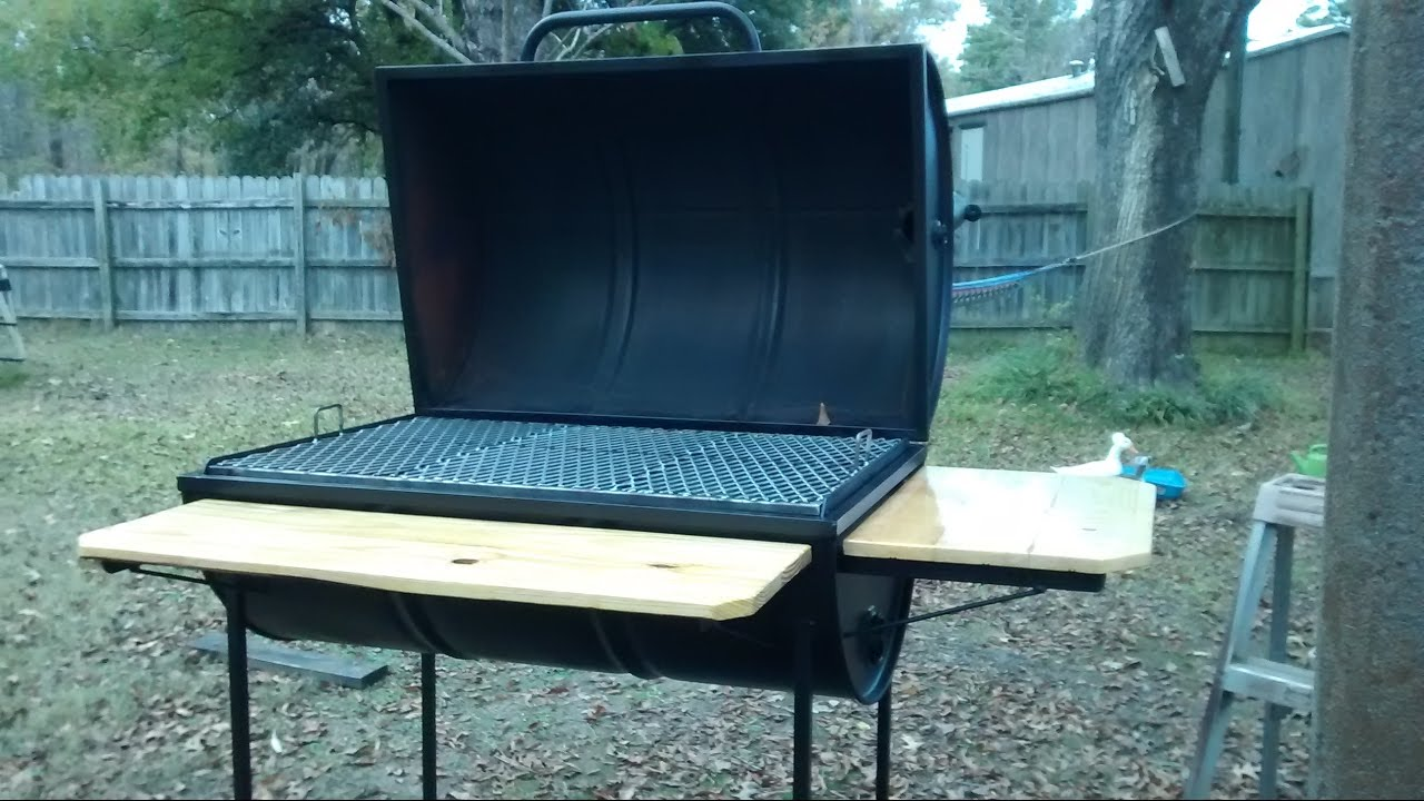 55 Gallon Barrel Bbq Pit   YouTube