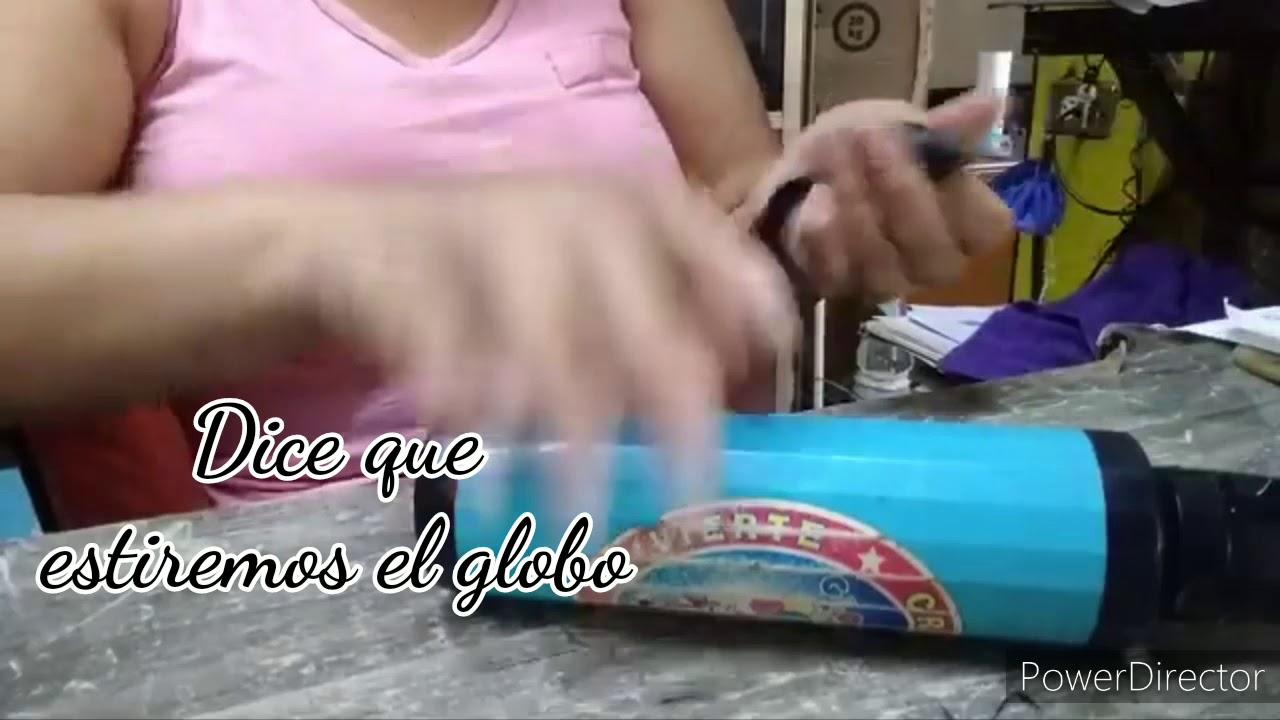 Siguiendo tips, empelando globos con cartón