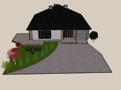 Projekt Dom Sketchup Do Pobrania W Opisie House Design In Sketchup
