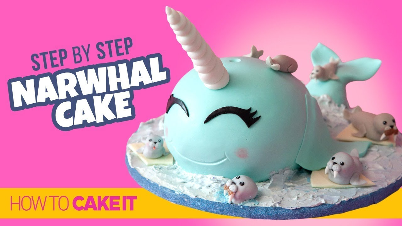 How To Make A Super Fun Narwhal Cake By Cassie Garner How To Cake