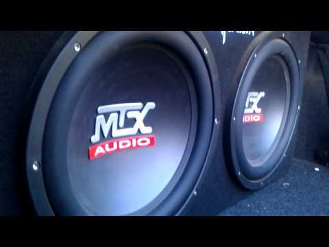 "2 12"" MTX Subs Epic Bass! 1200 Watts"