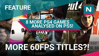 PS4 Pro vs PS5 - 8 more backward compatible games TESTED! Frame Rates Analysed