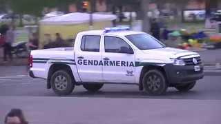 Patrulla Volkswagen Amarok de la Gendarmería Nacional Argentina en Rosario 06-2014