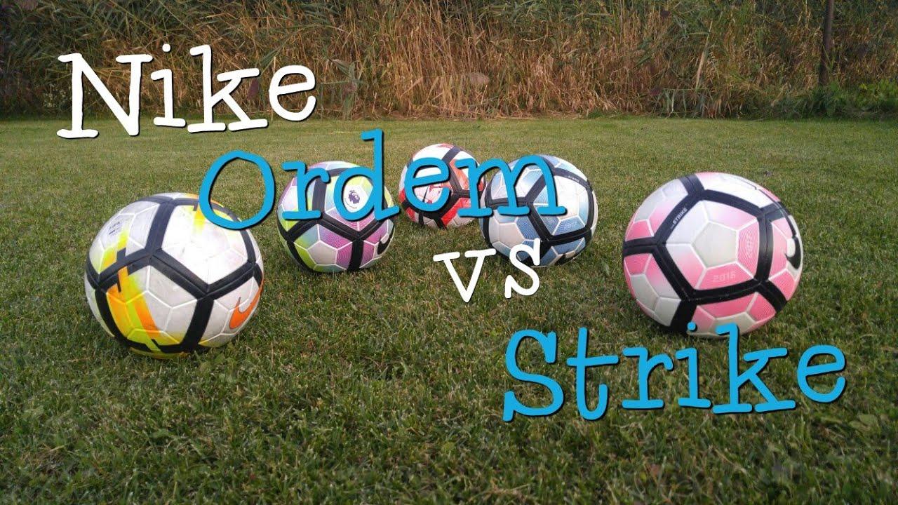 Bola Nike Ordem vs Nike Strike - YouTube 356ceb1906585