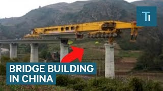 This 580-ton monster machine is building bridges across China
