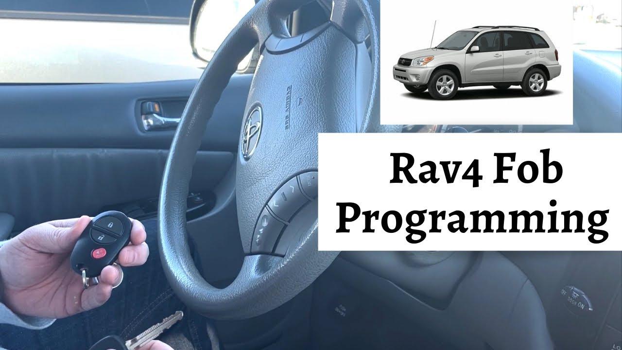 How To Program A Toyota Rav4 Remote Key Fob 2001 2005 Diy Tutorial Youtube