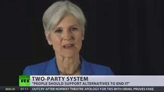 Third party candidate Jill Stein responds to Clinton-Trump duel in real time