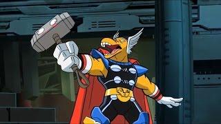 Super Hero Squad Show-Thor & Beta Ray Bill vs Stranger/Mjolnir choose Bill