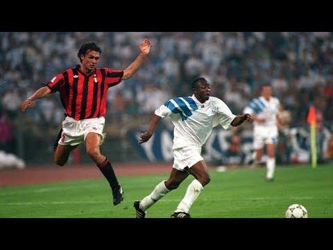 Milan 1-1 Olympique De Marseille (1991) * Highligths * Gullit, Papin, Maldini, Pelé...