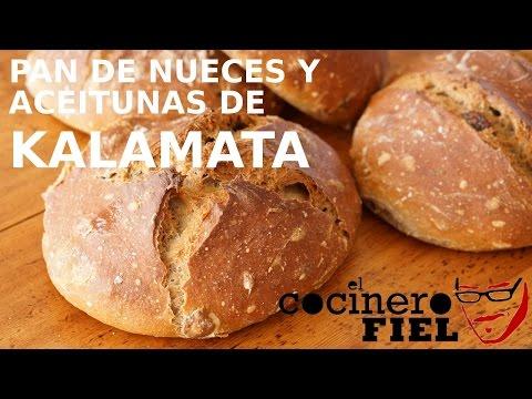 PAN DE NUECES Y ACEITUNAS DE KALAMATA
