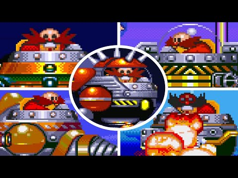Sonic The Hedgehog 3 - All Bosses (No Damage)