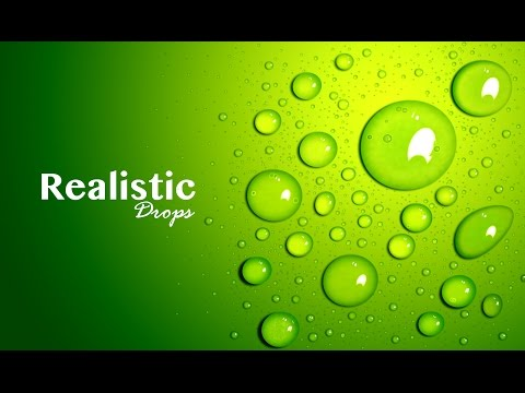 Realistic Drops – Adobe Photoshop – Graphic Design ( Part 1)