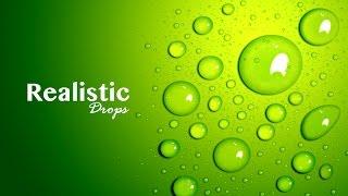 Realistic Drops - Adobe Photoshop - Graphic Design ( Part 1)