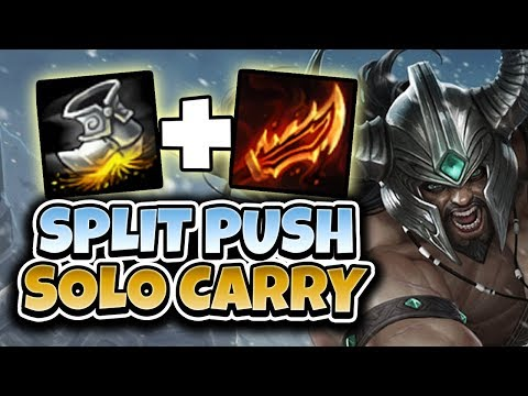 SPLITPUSH TO WIN SOLO! FOGGEDFTW2 TRYNDAMERE SPLITPUSH SOLOCARRY - League of Legends Full Gameplay