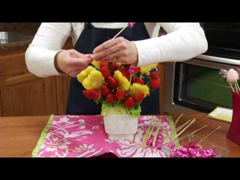 How to Make an Edible Strawberry & Pineapple Fruit Arrangement | RadaCutlery.com