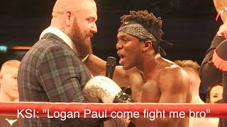 KSI CALLS OUT LOGAN PAUL FOR A BOXING FIGHT AFTER BEATING JOE WELLER... *UNSEEN*