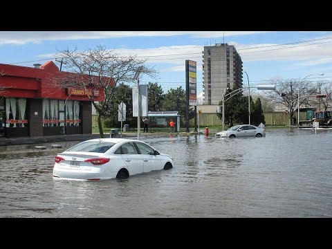 Montréal   THE GREAT FLOOD OF 2017 - Complete Footage - The Shock, The Damage & The Relief Efforts