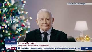 Jarosław Kaczyński: Święta Bożego Narodzenia to święta jedności