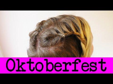 Flechtfrisur für Oktoberfest | Tolle Frisur für die Wiesen in Herzform | Haare flechten