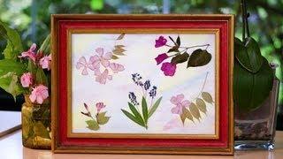 Silvia y Africa nos enseñan como hacer un cuadro de flores prensadas, esta manualidad o craft muy facil y sencilla de hacer es ideal para decoracion o como ...