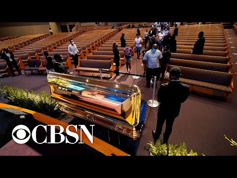 Hundreds pay respects to George Floyd in Houston church