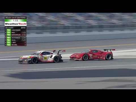 IMSA SportsCar Championship 2017. Rolex 24 At Daytona. Battles For Win (Prototype & GTLM classes)