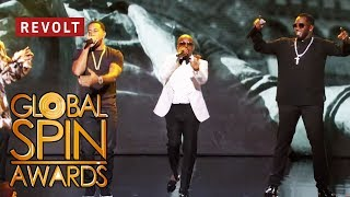 Download Diddy, Jermaine Dupri, Snoop Dogg, and Ludacris perform 'Welcome to Atlanta' | Global Spin Awards Mp3 and Videos
