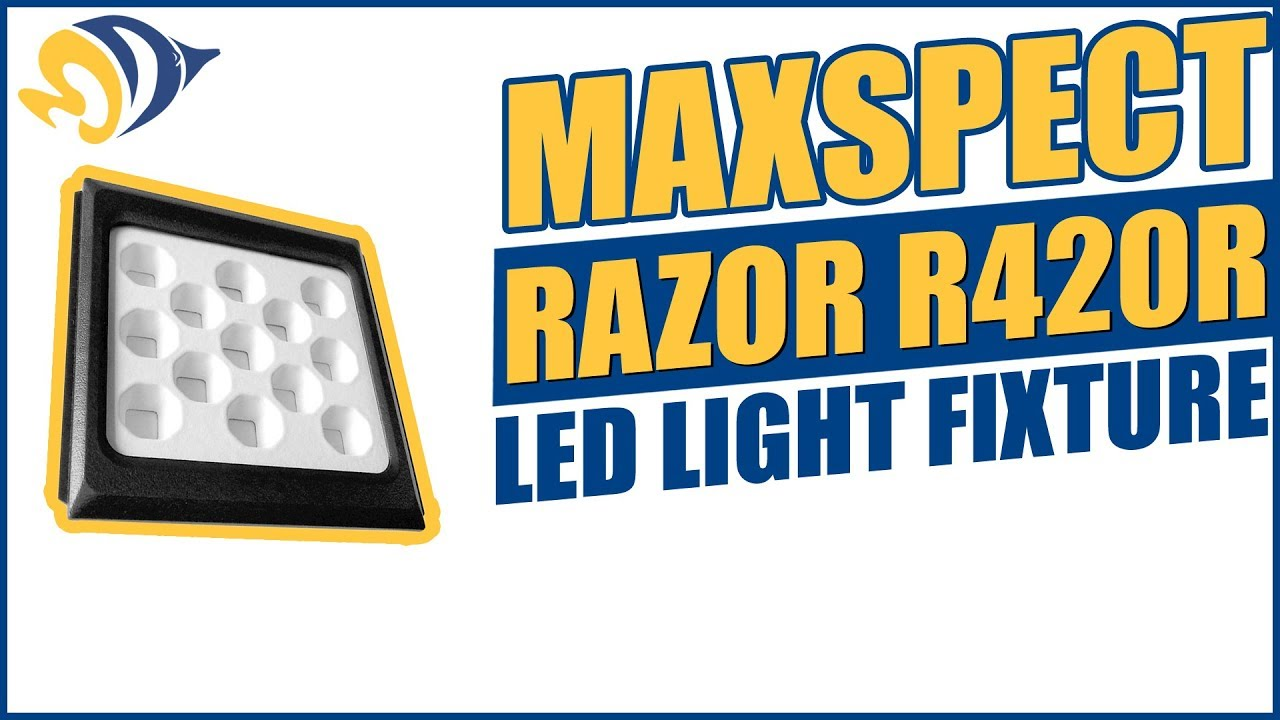 Maxspect razor r420r led light fixture product demo