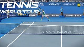 Tennis World Tour - Roger Federer vs Stefanos Tsitsipas - PS4 Gameplay