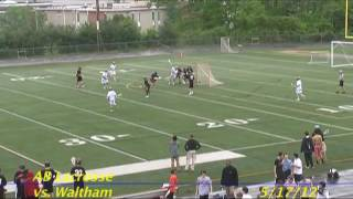 Acton Boxborough Varsity Lacrosse vs Waltham 5/17/12