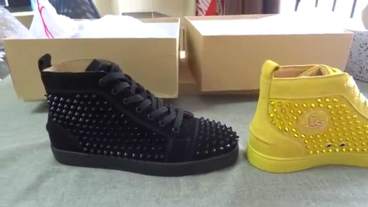 aefc152039f99 ... Louis Spikes Men s Flat Customized yellow and black temperament shoes  6d42a 7f197 ...