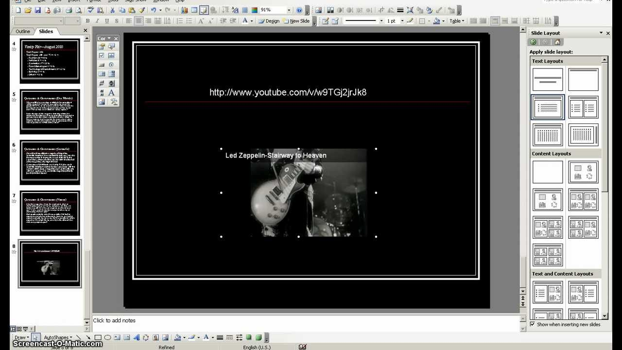 Embedding Youtube Videos Into Powerpoint 2003
