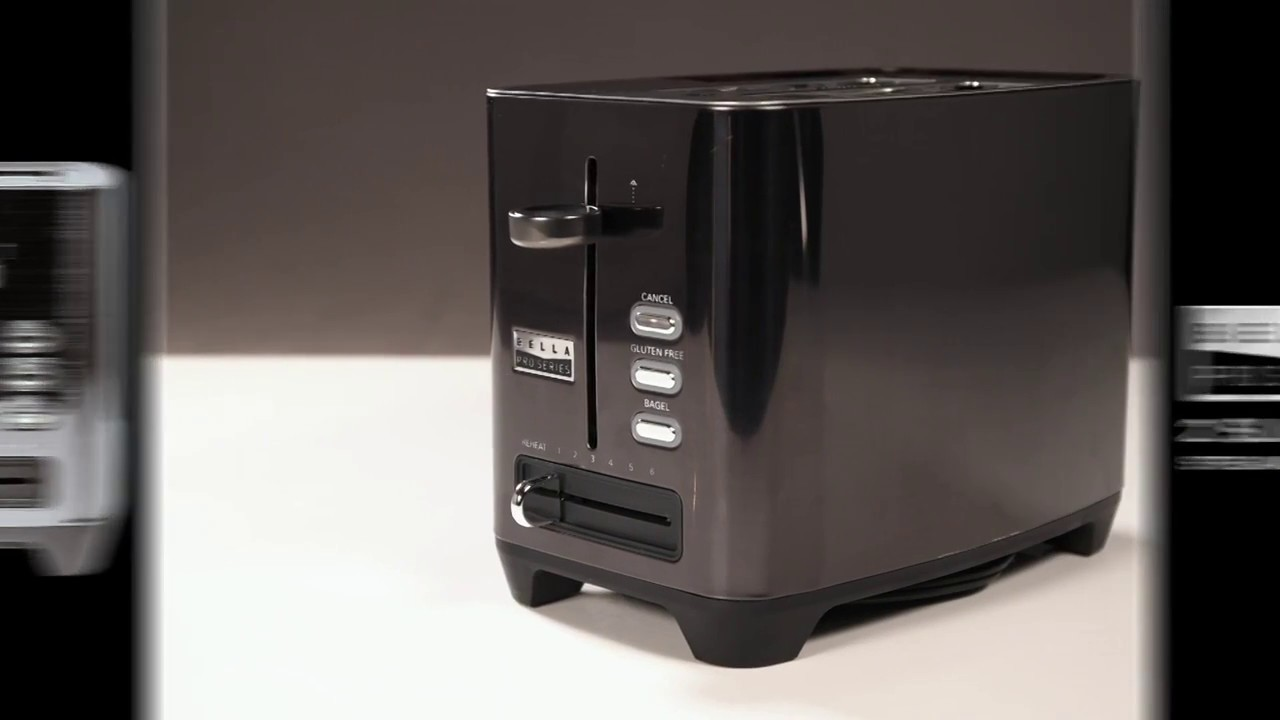 Black stainless steel Bella Pro Series 2-Slice Extra-Wide-Slot Toaster