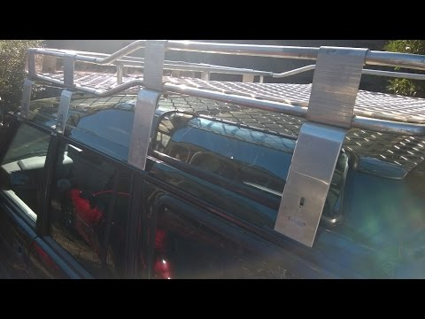 Land Rover Discovery 300tdi : Alloy Roof Rack and UHF Antenna Install