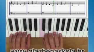 Učenje sviranje klavira, klavijature lekcije