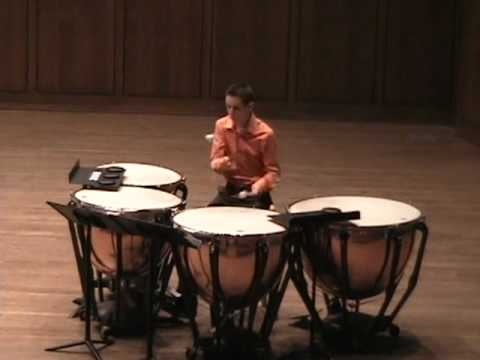 march from 8 pieces for timpani elliot carter youtube