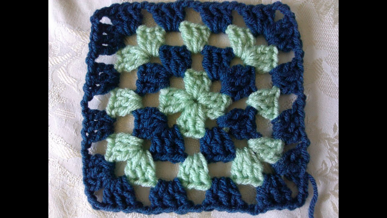 How to crochet classic granny square - YouTube