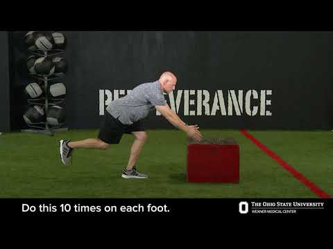 Single-leg balance exercise with arm workout | Ohio State Medical Center