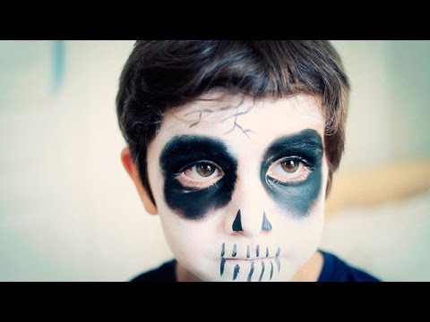 Maquillaje de Halloween para nios La Muerte YouTube
