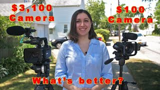 Cheap Camcorder VS Professional Camcorder!