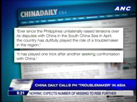 China daily calls PH a troublemaker