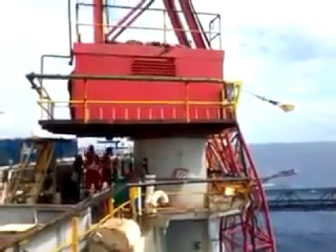 Offshore crane failure