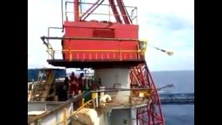 Offshore crane failure