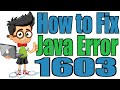 How to Fix Java Error 1603